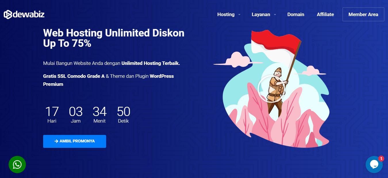 Hosting dan Domain Dewabiz.com)